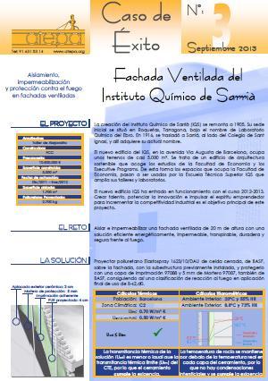 Caso de éxito de la FAchada Ventilada del Instituto Químico de Sarriá