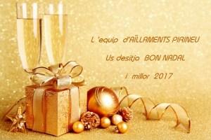 Felicitación Navideña del asociado AILLAMENTS PIRINEU