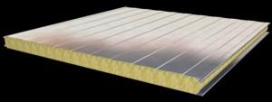 Panel Sándwich de Lana Mineral con caras metálicas (Fuente: AFELMA)